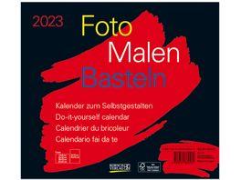 Foto Malen Basteln Bastelkalender quer schwarz 2022