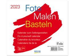 Foto Malen Basteln Bastelkalender quer weiss 2019