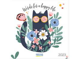 Words for a happy life 2019 Broschuerenkalender