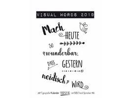 Visual Words 2019 Typo Art Wochenkalender