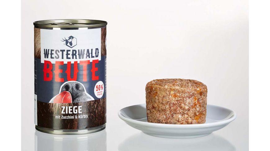 WESTERWALD BEUTE Ziege mit Zucchini Kuerbis 400g Dose