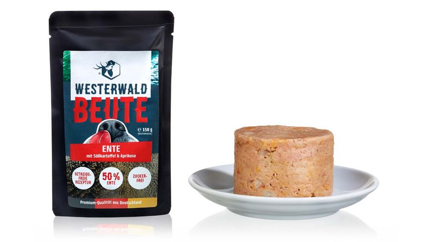 WESTERWALD BEUTE Ente mit Suesskartoffeln Aprikose 150g Beutel