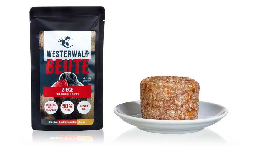 WESTERWALD BEUTE Ziege mit Zucchini Kuerbis 150g Beutel