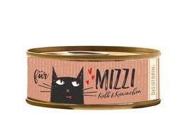 Mizzi Nassfutter fuer Katzen mit Kalb und Kaninchen