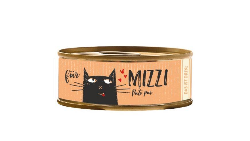 Mizzi Nassfutter fuer Katzen mit Pute