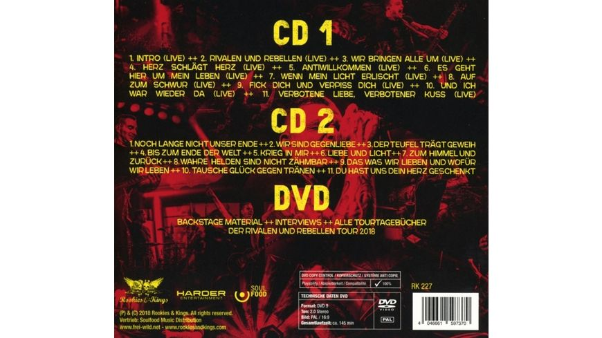 Rivalen Und Rebellen Live More 2CD DVD Digipak