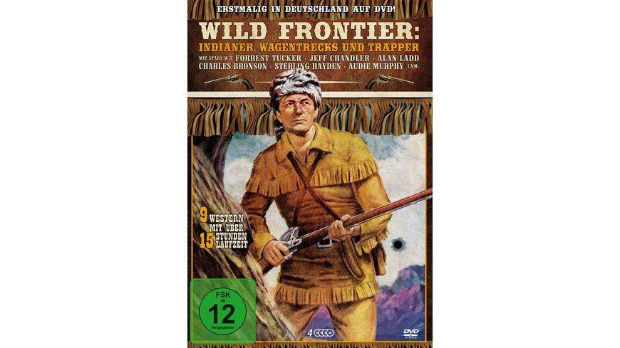 Wild Frontier Indianer Wagentrecks und Trapper 4 DVDs