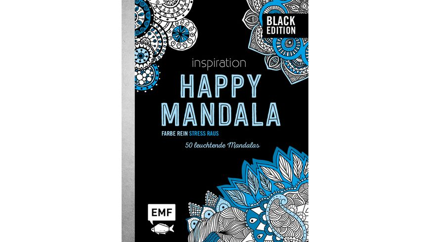 Black Edition Inspiration Happy Mandala