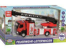Mueller Toy Place Feuerwehr Leiterwagen mit Licht und Sound 1 50