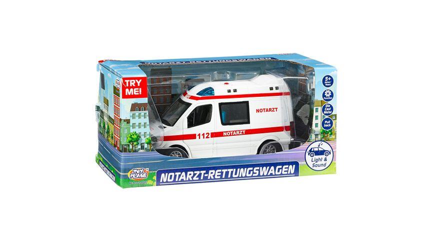 Müller - Toy Place - Notarzt Rettungswagen mit Licht und Sound 1:32