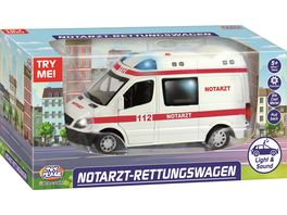 Mueller Toy Place Notarzt Rettungswagen mit Licht und Sound 1 32
