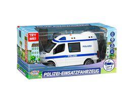 Mueller Toy Place Polizei Einsatzfahrzeug mit Licht und Sound 1 32