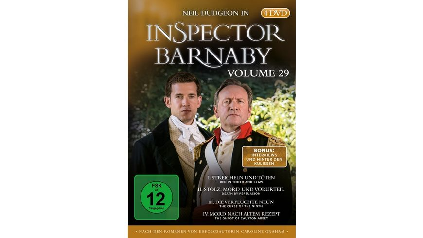 Inspector Barnaby Vol 29 4 DVDs