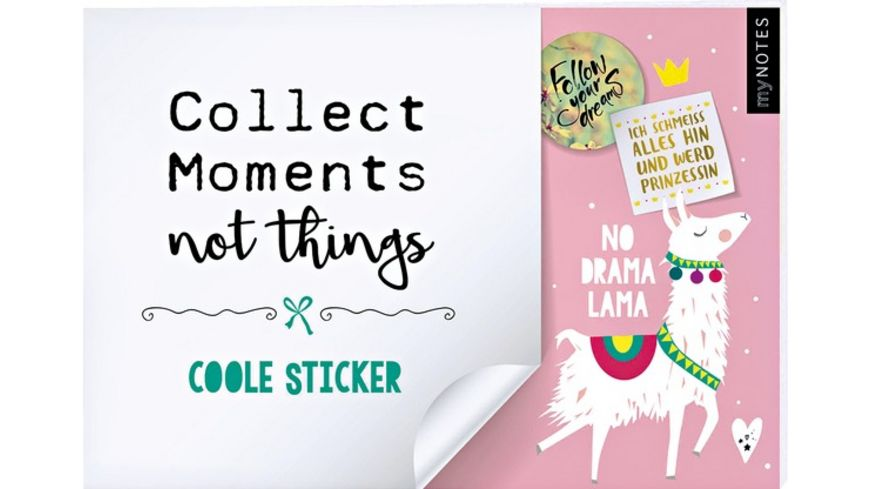 myNOTES Collect Moments not things Stickerheft Lama