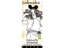 Labooko Edelweisse Schokolade mit reduzierter Zuckerzugabe