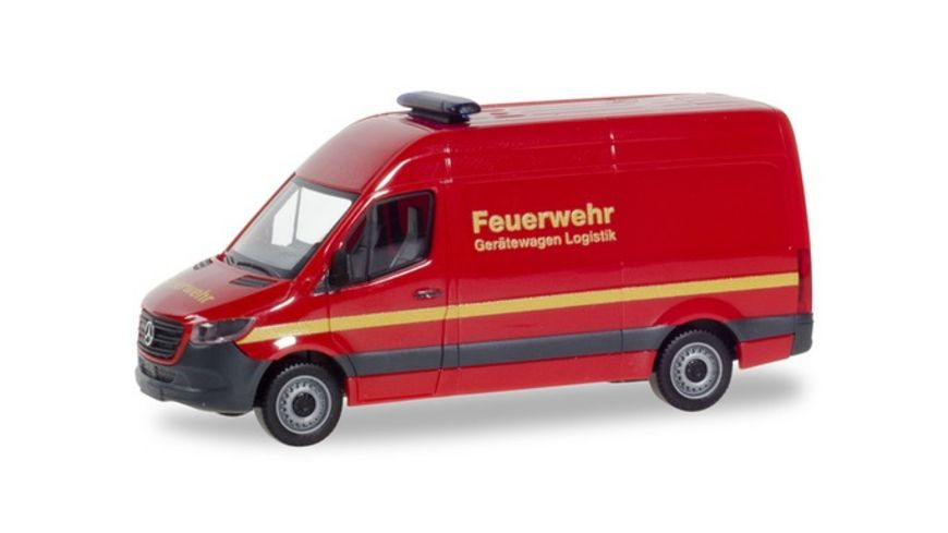 Herpa 093941 Mercedes Benz Sprinter Kasten Hochdach Feuerwehr