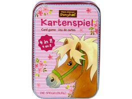 Die Spiegelburg Kartenspiel 4 in 1 Mein kleiner Ponyhof