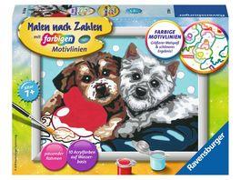 Ravensburger Beschaeftigung Malen nach Zahlen Hundefreundschaft