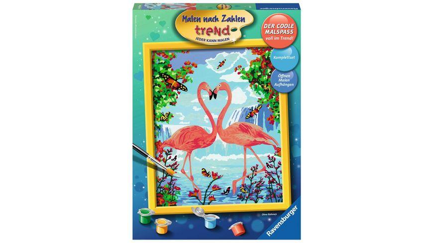 Ravensburger Beschaeftigung Malen nach Zahlen Flamingo Love