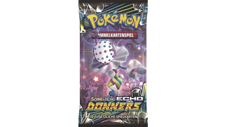 Pokemon Sammelkartenspiel Sonne Mond Serie 8 Echo des Donners Booster 10 Karten