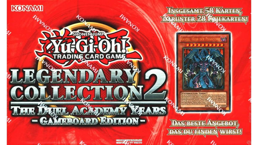 Yu Gi Oh Sammelkartenspiel Legendary Collection 2 The Duel Academy Years Gameboard Edition