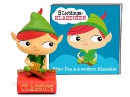 tonies Hoerfigur fuer die Toniebox 5 Lieblings Klassiker Peter Pan und 4 weitere Klassiker
