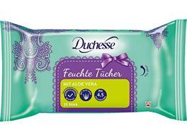 Duchesse feuchte Tuecher mit Aloe Vera 25 Stueck