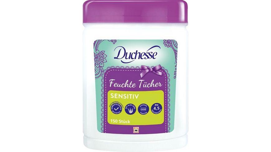 Duchesse feuchte Tuecher mit Aloe Vera Box 150 Stueck