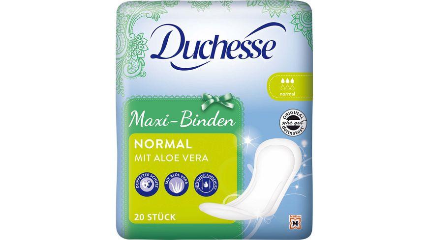 Duchesse Maxi Binden Normal mit Aloe Vera 20 Stueck