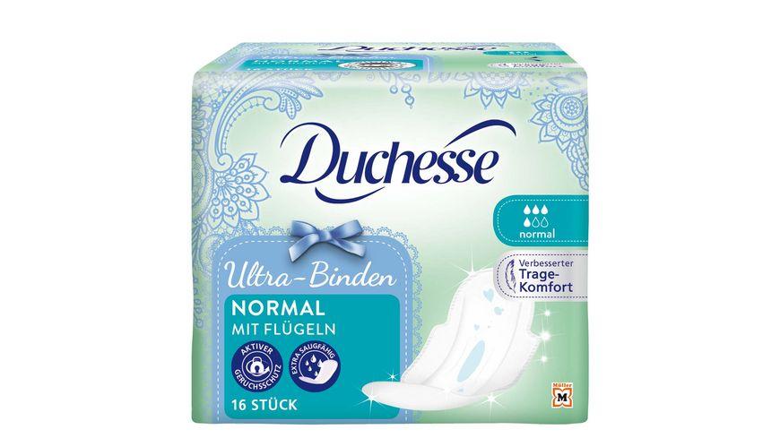Duchesse Ultra Binden Normal mit Fluegel 16 Stueck