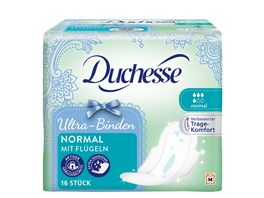 Duchesse Ultra Binden Normal mit Fluegel 16 Stueck
