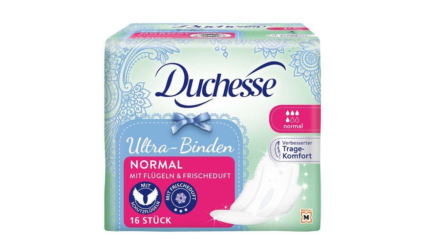 Duchesse Ultra Binden Normal mit Fluegel und Duft 16 Stueck