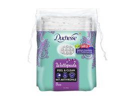 Duchesse Wattepads Peel Clean mit Aktivkohle 40 Stueck