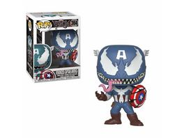 Funko POP Marvel Venom Venomized Captain America Bobble Head Figur