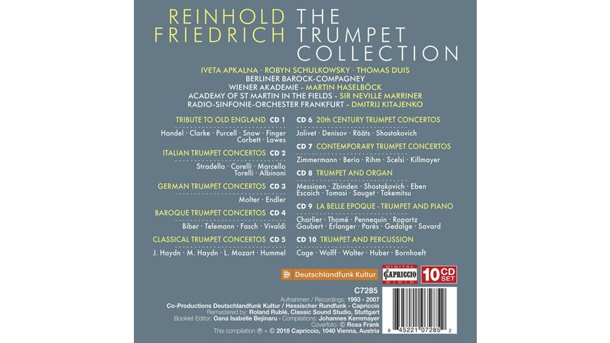 Reinhold Friedrich The Trumpet collection