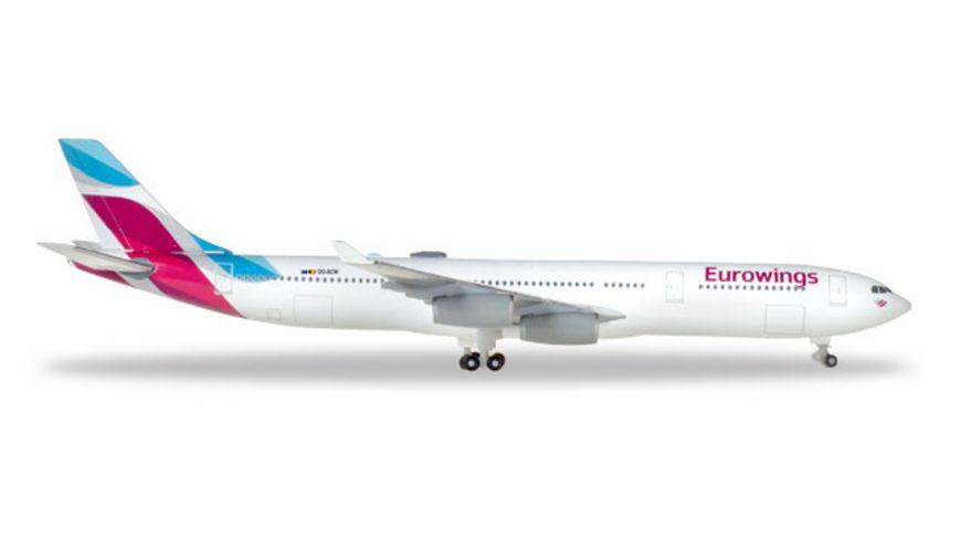 Herpa 531566 Wings Eurowings Airbus A340 300