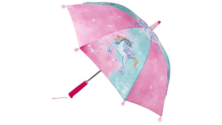 Die Spiegelburg Regenschirm Einhorn Paradies mit Lichteffekten