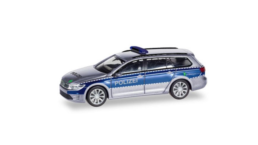 Herpa 093910 VW Passat Variant GTE Polizei Hamburg