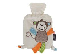 fashy Waermflasche 0 8 L mit Flauschbezug Affe Affonso