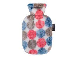fashy Waermflasche 0 8 L mit Flauschbezug mehrfarbig