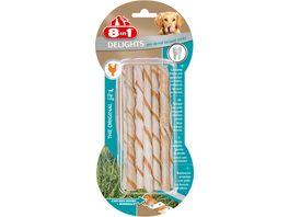 8in1 Delights Pro Dental gedrehte Kausticks mit Haehnchengeschmack 10 Stueck