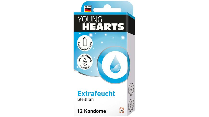 YOUNG HEARTS Kondome Extrafeucht 12 Stueck