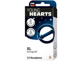 YOUNG HEARTS Kondome XL 12 Stueck