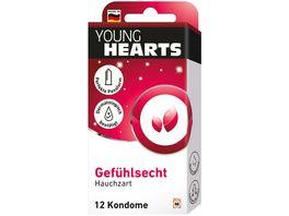 YOUNG HEARTS Kondome Gefuehlsecht 12 Stueck