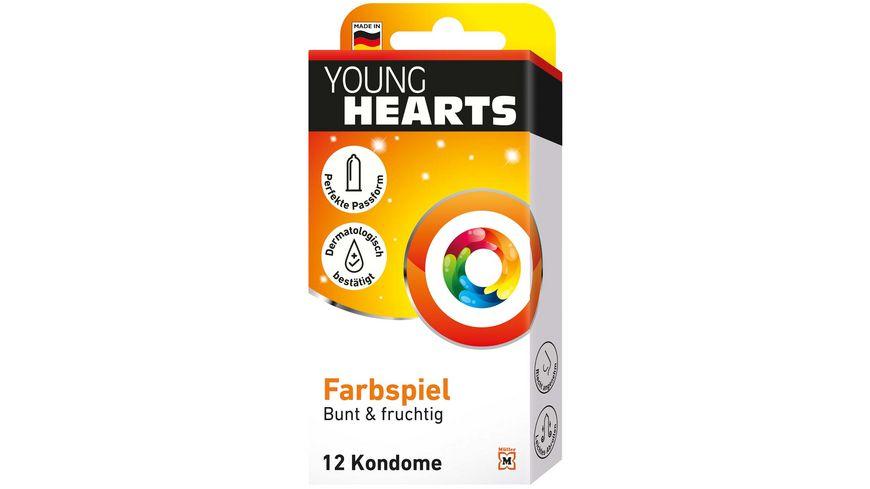 YOUNG HEARTS Kondome Farbenspiel 12 Stueck