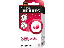 YOUNG HEARTS Kondome Gefuehlsecht 24 Stueck
