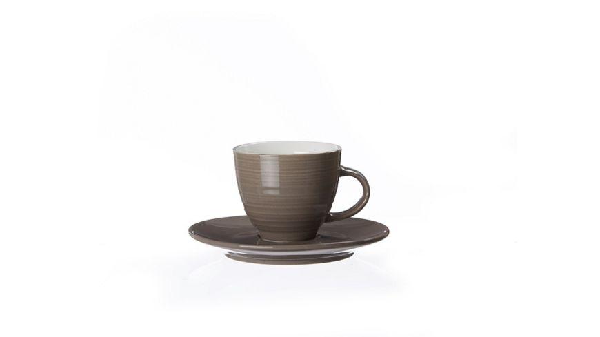 RITZENHOFF BREKER SUOMI Espressotasse taupe 2er Set