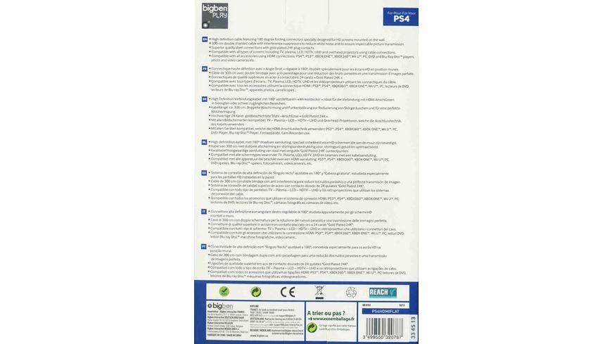 PS4 HDMI Kabel 1 4 3D Flat Cable 3 Meter