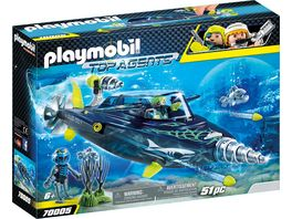 PLAYMOBIL 70005 Top Agents Team S H A R K Drill Destroyer
