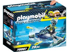 PLAYMOBIL 70007 Top Agents Team S H A R K Rocket Rafter
